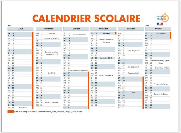 Calendrier Clisthène 2015-2016 -1