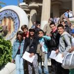 Les célèbres scuptures de Gaudi et les non moins célèbres élèves.