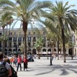 La Plaza Real, dans le Barrio Gotico.